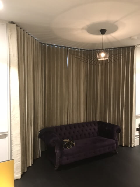 Closed bedroom wave curtains