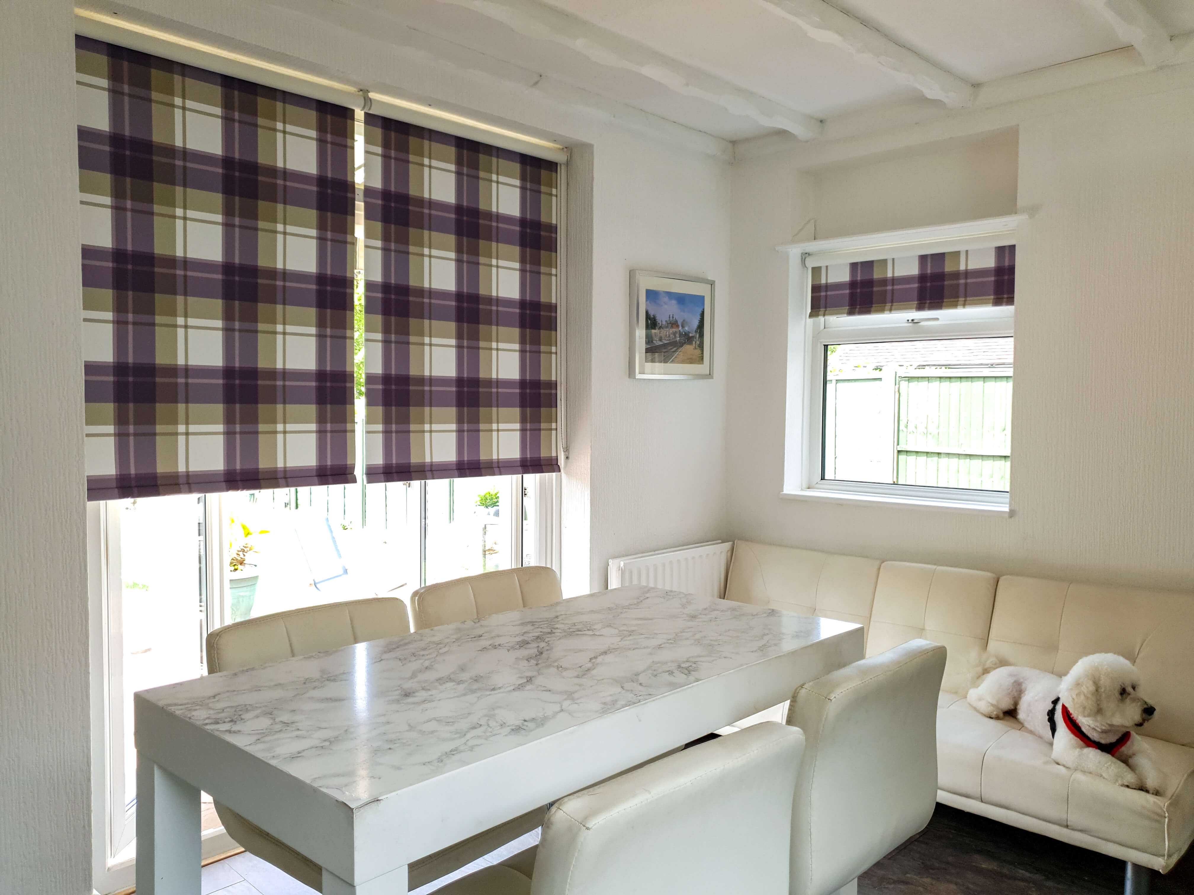 Tartan blackout roller blinds